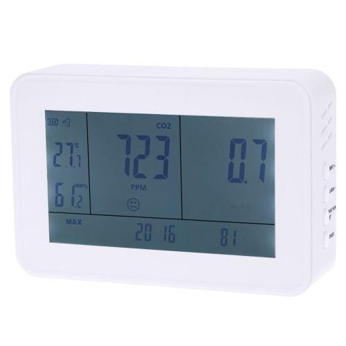 Numérique du dioxyde de carbone détecteur CO2 température humidité compteur Date Time affichage des valeurs Min Max