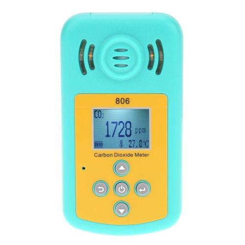 Ordinateur de poche professionnel dioxyde de carbone gaz CO2 compteur détecteur température mesure écran LCD alarme valeur définissable