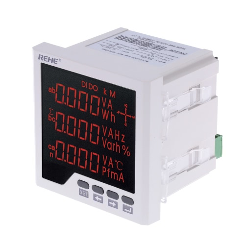 96*96mm Multi-functional LED Digital 3 Phase Power Meter AC Voltage Current Power Factor Frequency MeasurementPower Meters<br>96*96mm Multi-functional LED Digital 3 Phase Power Meter AC Voltage Current Power Factor Frequency Measurement<br><br>Blade Length: 10.0cm