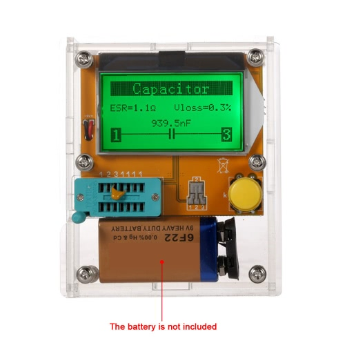 Multi-functional LCD Backlight Transistor Tester Diode Triode CapacitanceComponent Testers<br>Multi-functional LCD Backlight Transistor Tester Diode Triode Capacitance<br><br>Blade Length: 12.0cm