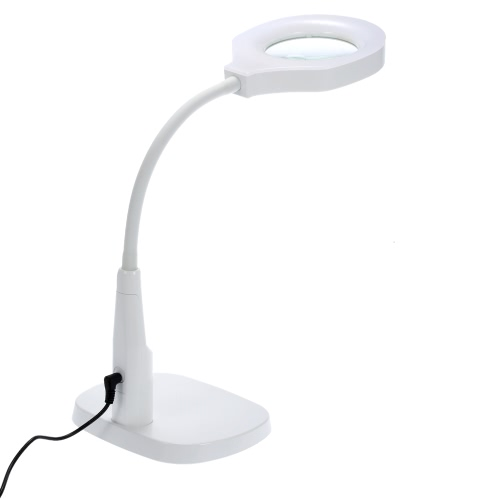 Sturdy Good Quality Versatile 2 in 1 Lighted Magnifier and Desk Lamp Flexible Practical Hands-free Magnifying Tool with C Clamp and Base HolderMagnifier<br>Sturdy Good Quality Versatile 2 in 1 Lighted Magnifier and Desk Lamp Flexible Practical Hands-free Magnifying Tool with C Clamp and Base Holder<br><br>Blade Length: 38.5cm