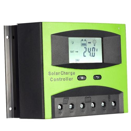 50 a 12V/24V régulateur de Charge solaire PWM charge température Compensation surcharge Protection LCD affichage solaire hors réseau système