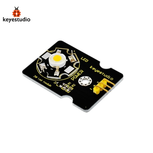 Brand New Keyestudio 3W LED Module Compatible Board for Arduino - Black