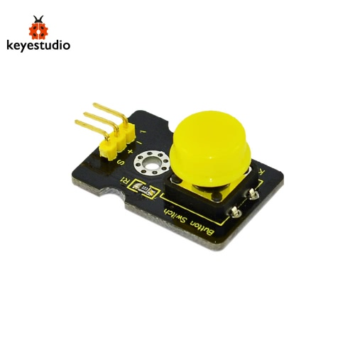 Brand New Keyestudio Digital Push Button Module For Arduino Compatible - Black + Yellow