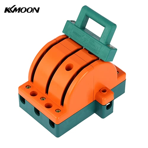 KKMOON 32A Double-throw 3-Pole Disconnect Knife Switch Circuit Breaker Backup Generator for Industrial Household Use E1699-1