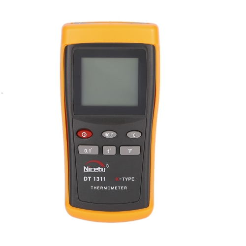 Nicety DT1311 -200~1370°C Handheld Digital Single Channel Thermometer Temperature Meter K Type Thermocouple Sensor Switchable ResolutionTemperature &amp; Humidity Instrument<br>Nicety DT1311 -200~1370°C Handheld Digital Single Channel Thermometer Temperature Meter K Type Thermocouple Sensor Switchable Resolution<br><br>Blade Length: 17.0cm