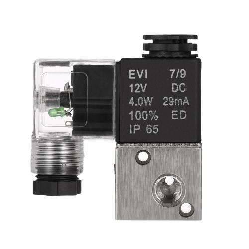 Buy 3V1-06 PT1/8 2 Position 3 Way DC12V Pneumatic Solenoid Valve Electric Air