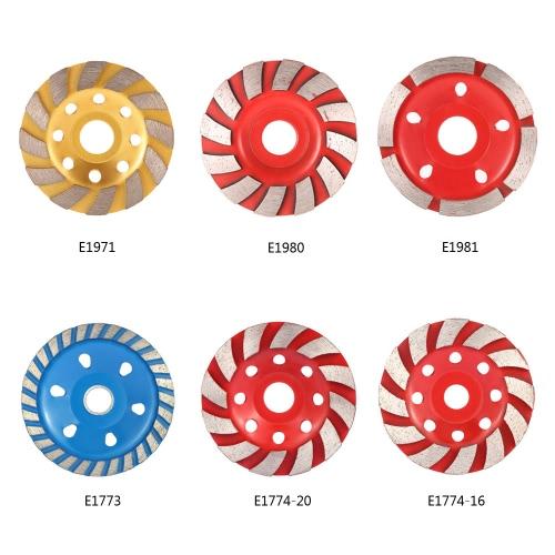 "100mm 4"" Diamond Segment Grinding Wheel Disc Bowl Shape Grinder Cup 22mm Inner Hole Concrete Granite Masonry Stone Ceramics Terrazzo Marble for Building Industry"