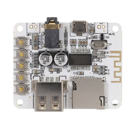 DIY Electronics E1262 USB DC 5V Bluetooth 2.1 Audio Receiver Board Wireless Stereo Music Module with TF Card Slot