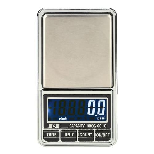 DIY Electronics E1640-2 Professional Mini Digital Scale Jewelry Electronic Pocket Scale Precision Balance 600g*0.01g / 1000g*0.1g