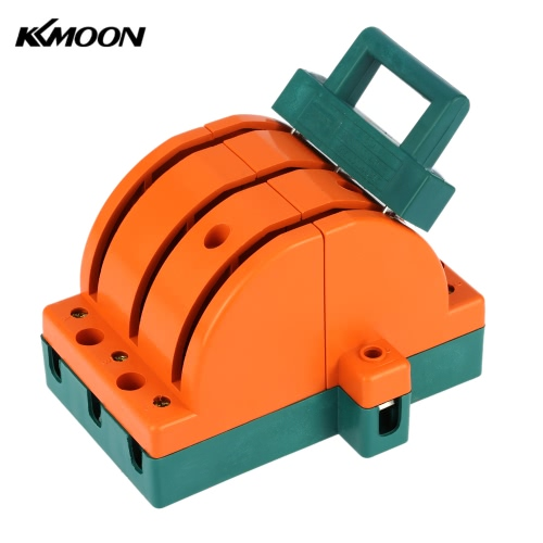 KKMOON 63A Double-throw 3-Pole Disconnect Knife Switch Circuit Breaker Backup Generator for Industrial Household Use E1699-2