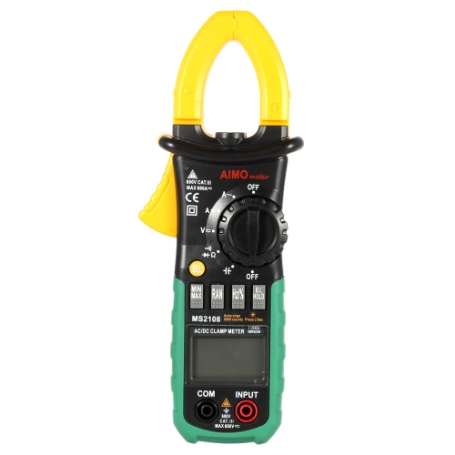 Buy AIMO MS2018 Portable Digital Clamp Meter Multimeter AC/DC Current Voltage Resistance Capacitance Measurement Diode Continuity Test Auto Manual Range