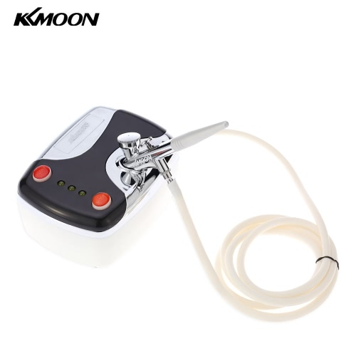 KKMOON New Makeup Cake Tattoo Nail Art Airbrush Kit Air Brush Compressor Gravity Feed Single-Action Spray Gun E1653