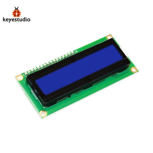 "Brand New Keyestudio 1602 I2C Module Compatible Board for Arduino - 2.6"" LCD Green + Black"