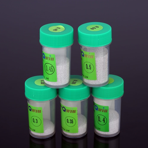 250k 0,45 mm, boules de soudure de soudure de haute qualité à billes Sn96.5/Ag3/Cu0.5