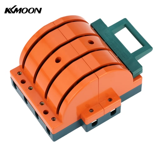KKMOON 160A Double-throw 4-Pole Disconnect Knife Switch Circuit Breaker Backup Generator for Industrial Household Use E1700-4