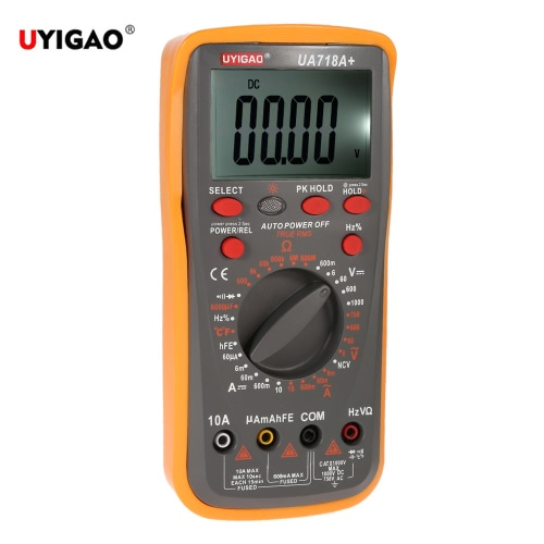 UYIGAO Brand New Digital LCD Multimeter Ohmmeter Ammeter DC/AC Voltage Current Resistance Capacitance Frequency Duty Circle Diode Temperature Triode Continuity Test Manual RangeDigital Multimeters<br>UYIGAO Brand New Digital LCD Multimeter Ohmmeter Ammeter DC/AC Voltage Current Resistance Capacitance Frequency Duty Circle Diode Temperature Triode Continuity Test Manual Range<br><br>Blade Length: 22.5cm