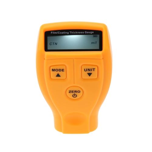 Jauge d'épaisseur de Film numérique/revêtement avec rétro-éclairage LCD peindre plage de mesure de revêtement électrolytique 0 ~ 1800?m