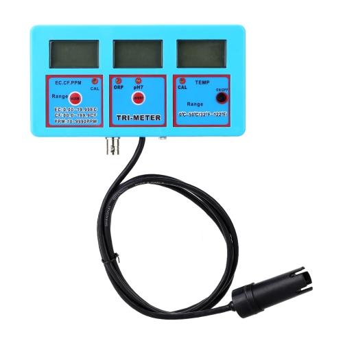 Professionnel 6 en 1 Water Testing compteur Digital multifonctions eau qualité moniteur PH / ORP / température / conductivité EC / CF / TDS(PPM) multiparamétriques testeur de qualité d'eau