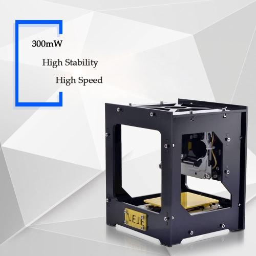 300mW NEJE DK-8-3 Mini USB graveur imprimante Carver automatique bricolage Machine de gravure Laser avec lunettes de protection