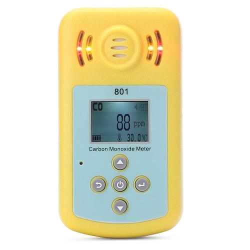 Détecteur de monoxyde de carbone CO de compteur gaz avec affichage LCD et alarme sono-light