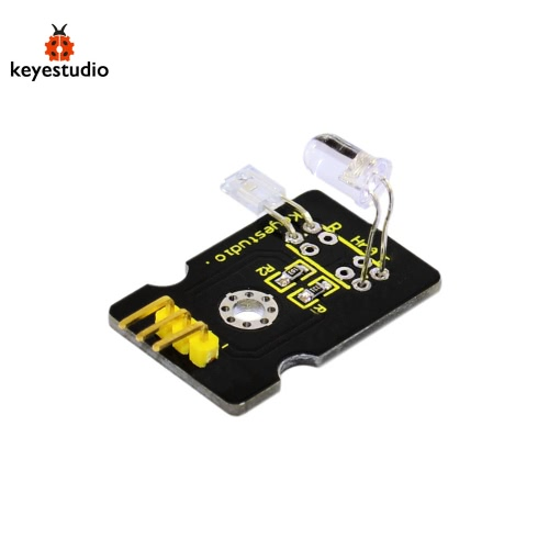 Brand New Keyestudio Pulse Rate Sensor Test Module Compatible Board for Arduino - Black + Yellow