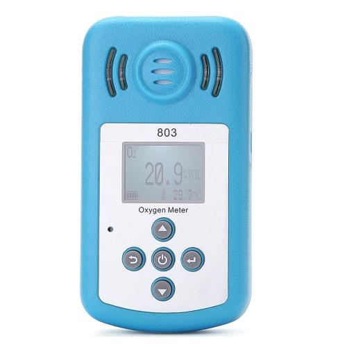 Détecteur de Concentration Oxygen(O2) Portable oxygène compteur avec affichage LCD et alarme sono-light