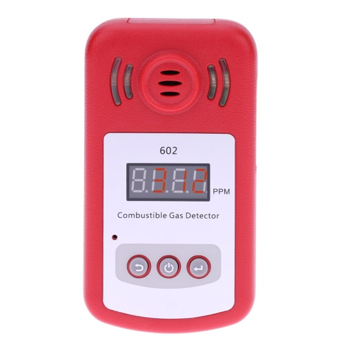 Portable Mini Combustible Gas Detector Gas Leak Tester with Sound and Light Alarm