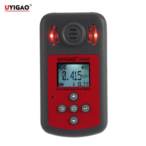 UYIGAO Brand New Handheld Portable Meter for PPM HTV Digital Formaldehyde Tester Methanal Concentration Monitor   Detector with LCD Display Sound and Light Alarm E1737