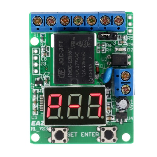 12V DC Multifunction Self-lock Relay PLC Cycle Timer Module Delay TimeModules<br>12V DC Multifunction Self-lock Relay PLC Cycle Timer Module Delay Time<br><br>Blade Length: 5.0cm