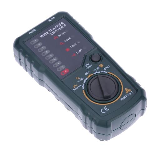 Ordinateur de poche fil Tracker Finder traceur testeur téléphone fil traçage réseau avec câble adaptateur de casque Clip