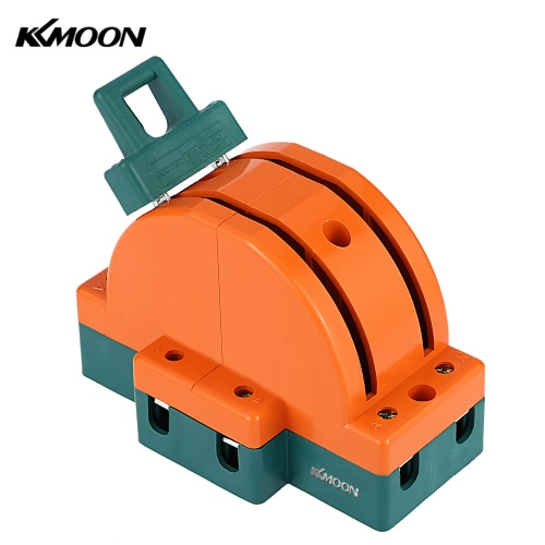 KKMOON 63A Double-throw 2-Pole Disconnect Knife Switch Circuit Breaker Backup Generator for Industrial Household Use E1698