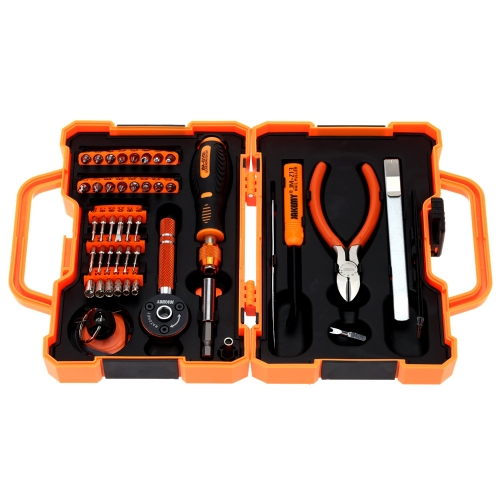 JAKEMY JM-8146 Professional 47 in 1 Precision Screwdriver Set Useful Repair Tool Set with Tweezers Pliers Utility Knife Phillips Hexagon Slotted & Torx Bits