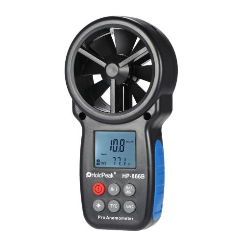 Buy HoldPeak HP-866B Mini LCD Digital Anemometer Wind Speed Air Velocity Temperature Measuring Backlight