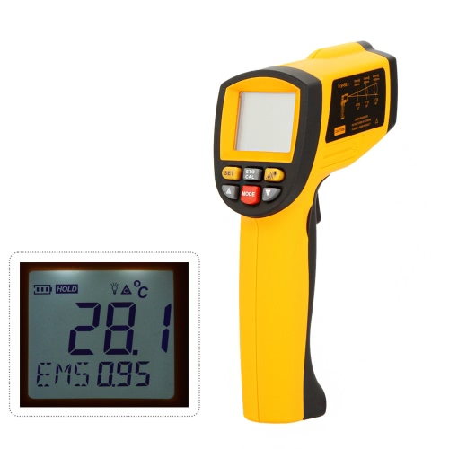 Buy GM1150A Non-Contact 50:1 Digital Infrared IR Thermometer Laser Temperature Gun Tester Range -18~1150u2103 (0~2102u2109) LCD Backlight