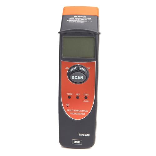 Tachymètre multifonctions numériques Tacho compteur RPM enregistre mètre testeur avec USB Interface SM8238
