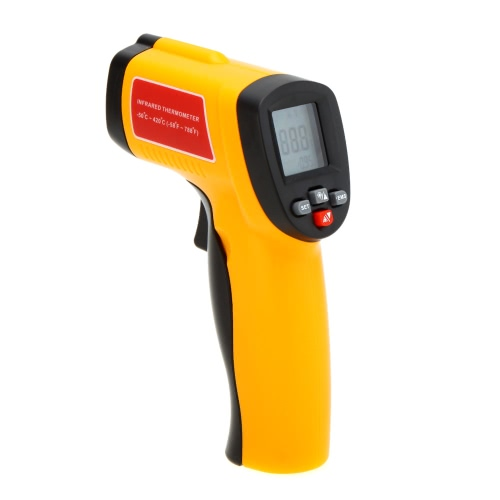 GM300E Non-Contact Digital IR Infrared Thermometer Laser Point Temperature Gun Tester Range -50~420 Degrees Celsius with LCD BacklightInfrared Thermometer<br>GM300E Non-Contact Digital IR Infrared Thermometer Laser Point Temperature Gun Tester Range -50~420 Degrees Celsius with LCD Backlight<br><br>Blade Length: 21.0cm