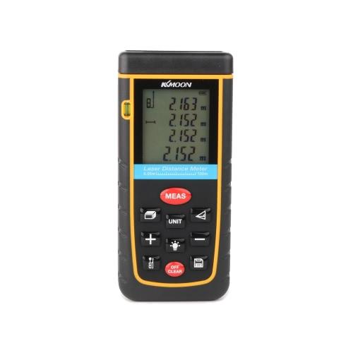 KKMOON poche 100m / 328ft numérique Laser Distance compteur Range Finder mesure Distance zone Volume auto-étalonnage niveau bulle