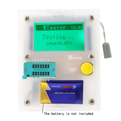 KKmoon 128*64 Pocketable Transistor Tester Capacitance ESR LCR Diode Triode Triac MOS Meter with LCD BacklightComponent Testers<br>KKmoon 128*64 Pocketable Transistor Tester Capacitance ESR LCR Diode Triode Triac MOS Meter with LCD Backlight<br><br>Blade Length: 15.0cm