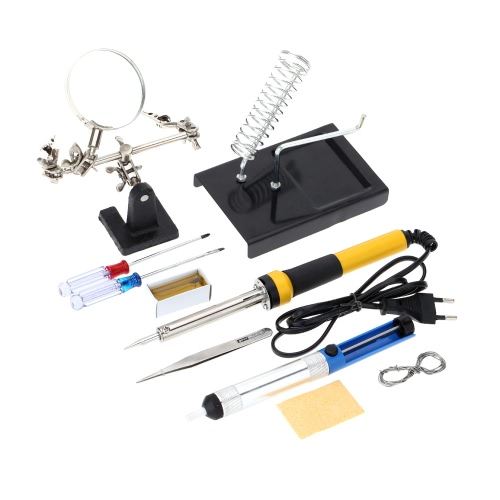 FZ603 220V-240V 30W Household Soldering Iron 10pcs Tools Soldering Iron with Magnifier Tin Wire Solder Sucker RosinMaintenance Tools<br>FZ603 220V-240V 30W Household Soldering Iron 10pcs Tools Soldering Iron with Magnifier Tin Wire Solder Sucker Rosin<br><br>Blade Length: 37.0cm