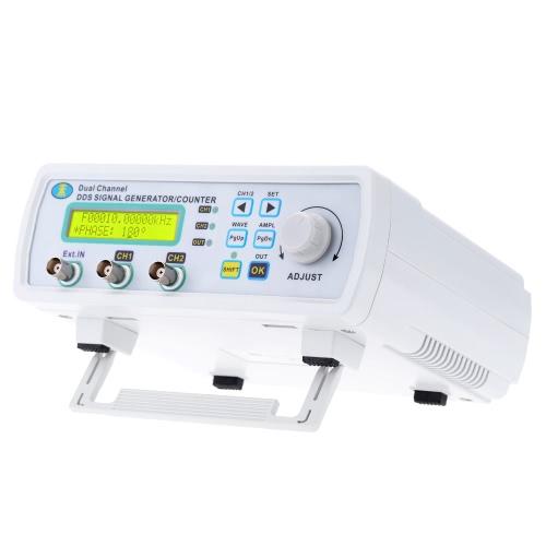 Haute précision DDS Digital Signal bicanal Source générateur signaux arbitraires fréquence mètre 200MSa/s 12MHz