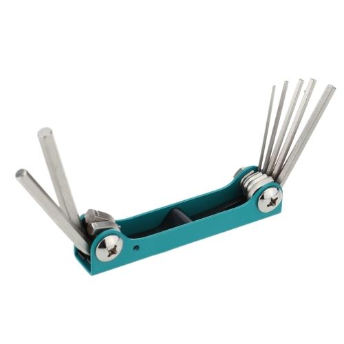 Pro'sKit 8PK-021N 7pcs Folding Hex Key Set 1.2/2/2.5/3/4/5/6mm Repair Tool