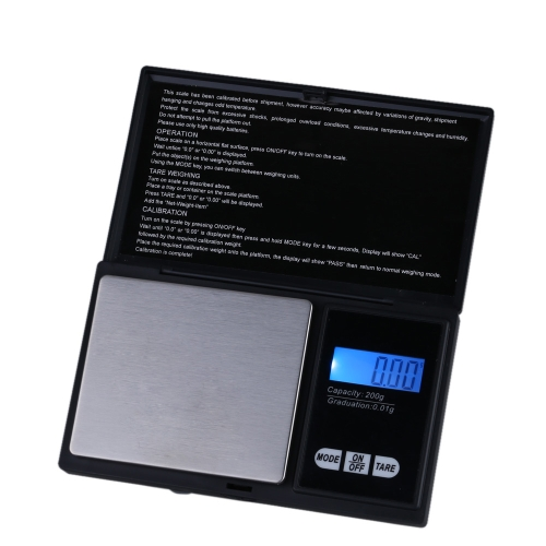 DIY Electronics E0896 200g * 0.01g Digital Scale Professional Mini Digital Pocket Scale Jewelry Weighing Tool