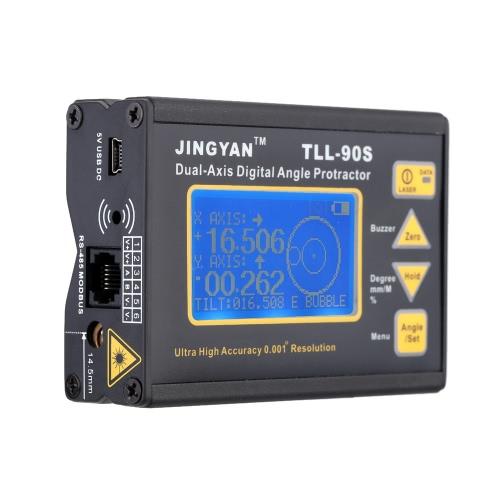 TLL-90 Super haute précision Angle Meter 0,005 professionnel double-axe numérique Laser niveau inclinomètre Rapporteur d'Angle avec affichage à cristaux liquides 100-240V 50 - 60Hz