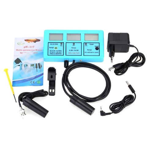 Professionnel 5 en 1 Water Testing compteur eau multiparamètres qualité moniteur PH / température / conductivité EC / CF / TDS multiparamétriques appareil d'analyse de qualité d'eau