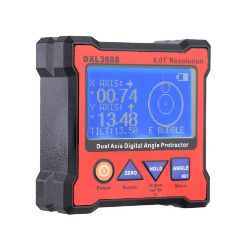 DXL360S, rapporteur d'Angle numérique des deux axes avec 5 indicateur de niveau magnétique Base haute précision double-axe numérique affichage côté 100-240V 50 - 60Hz