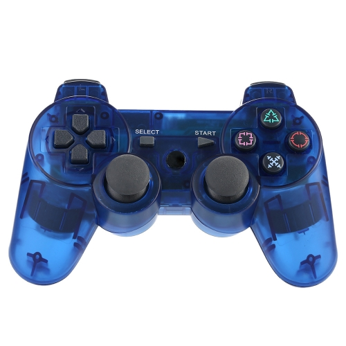 Wireless Bluetooth Game Controllor Bluetooth 4.0 Six Axis Double Vibration Gamepad Game Console Dark Blue for PS3 F1480BL