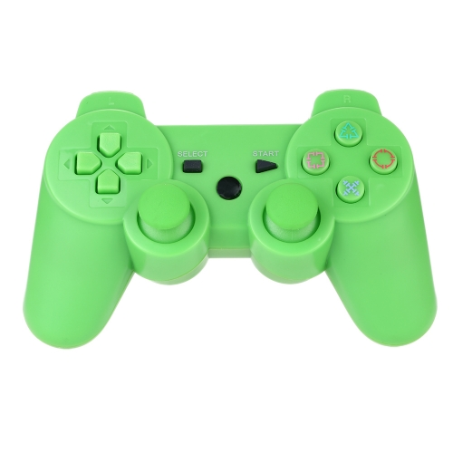Wireless Bluetooth Game Controllor Bluetooth 4.0 Six Axis Double Vibration Gamepad Game Console Green for PS3