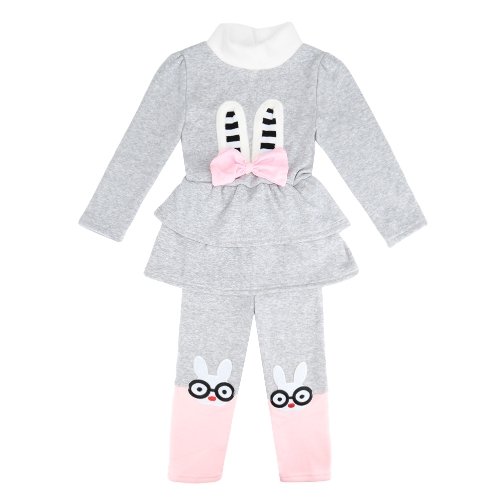 Cute Baby Girls Two-Piece Set Bow Cartoon Pattern Long Sleeve Sweatshirt Elastic Waist Trousers Fleece Warm Outfits Red/GreyCute Baby Girls Two-Piece Set Bow Cartoon Pattern Long Sleeve Sweatshirt Elastic Waist Trousers Fleece Warm Outfits Red/Grey<br><br>Blade Length: 30.0cm