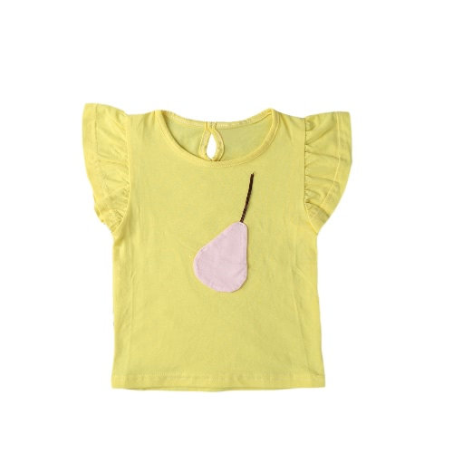 Fashion Summer Casual Girls T-Shirt Fruit Decoration O-Neck Short Sleeve Keyhole Back Cute Tees TopShirts &amp; Blouses<br>Fashion Summer Casual Girls T-Shirt Fruit Decoration O-Neck Short Sleeve Keyhole Back Cute Tees Top<br><br>Blade Length: 15.0cm